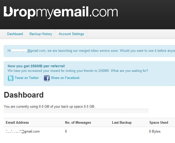 backup email accounts