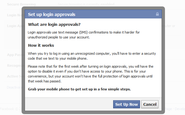 5 things you can do now to secure your facebook account make it secure site facebook ccuart Images