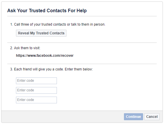 How to Recover Your Facebook Account When You Can No Longer Log In Facebook Trusted Contacts