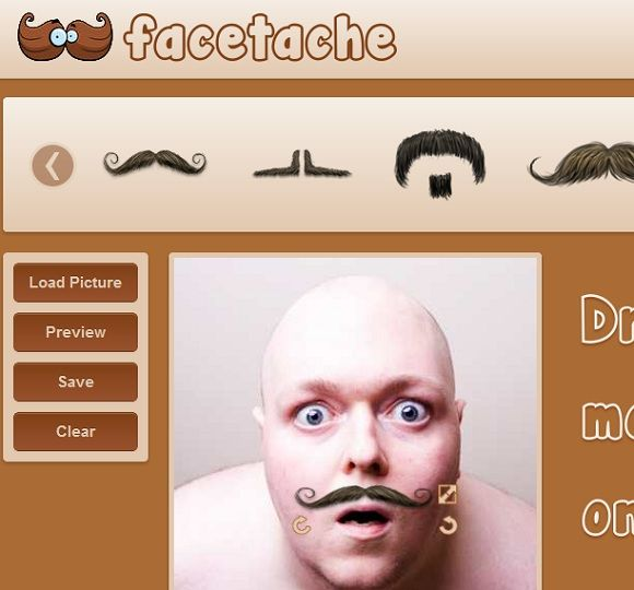 Facetache   Facetache: Add A Moustache To Your Images Online