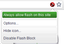 block flash chrome extension