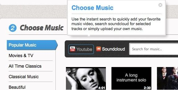 Slidely: Easily Create Musical Slideshows From Your Online Images Music