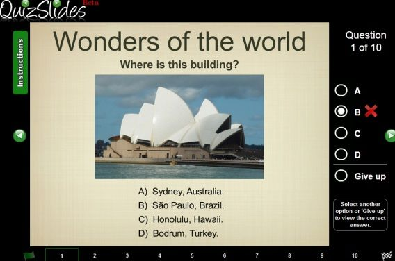 create slideshow quiz