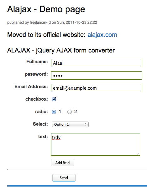 convert form to ajax