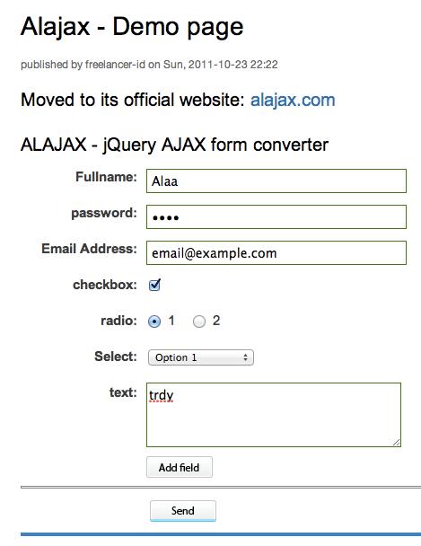 convert form to ajax