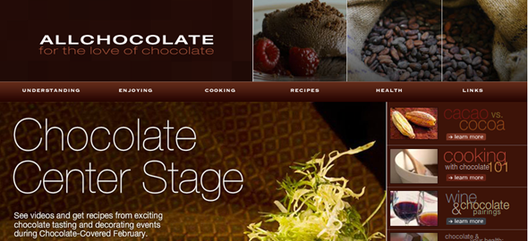 chocolate lovers website