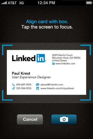 convert business cards to contacts