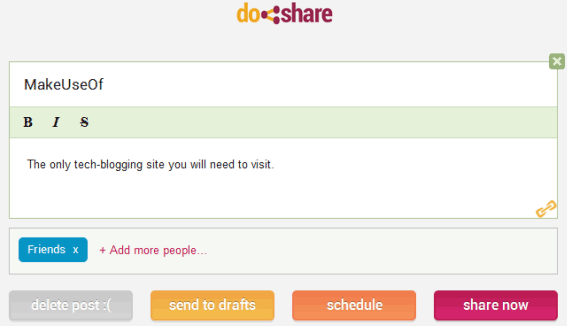 doshare   Do Share: Easily Schedule Posts For Google Plus [Chrome]