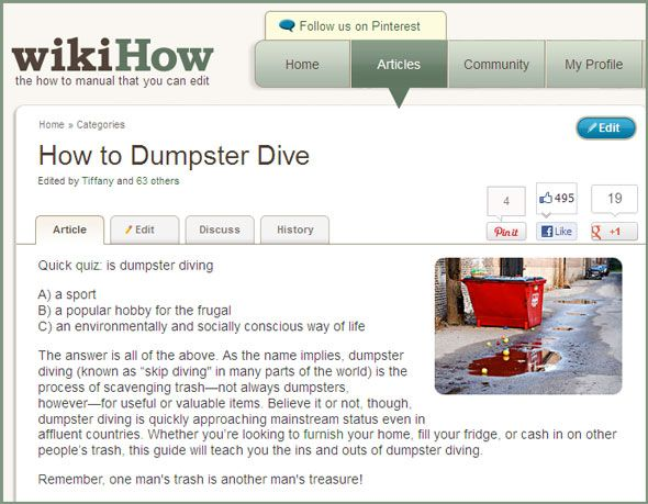 10 Great Online Resources To Support Your Dumpster Diving Lifestyle dumpster dive01