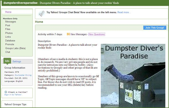 10 Great Online Resources To Support Your Dumpster Diving Lifestyle dumpster dive08