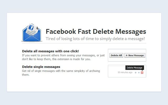 delete facebook messages quickly