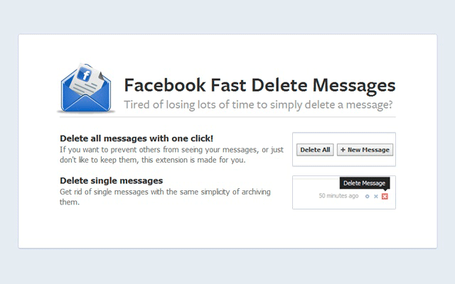 delete facebook messages quickly