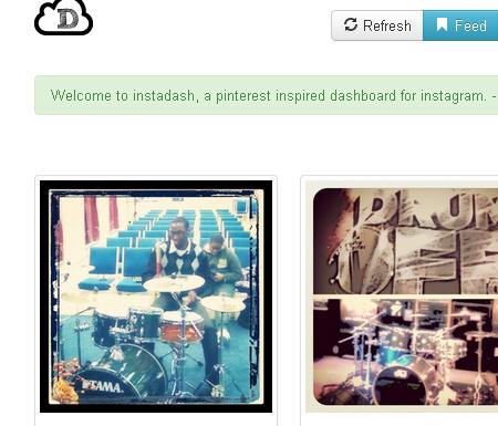 instagram dashboard