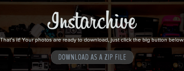 Instarchive: Save All Your Instagram Images to a Zip File instarchive2 e1336058247629