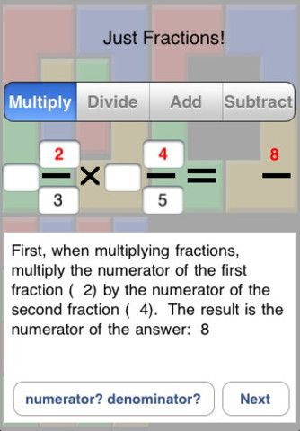learning fractions free apps
