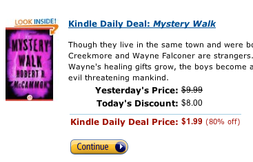 kindle daily deals email