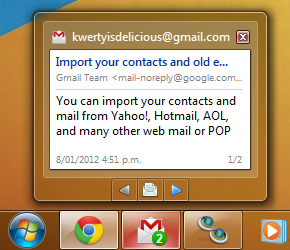 kwerty gmail notifier
