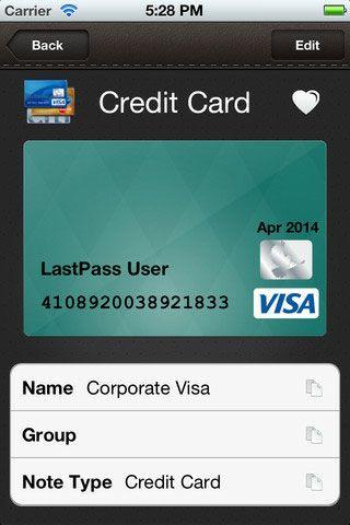 lastpass wallet