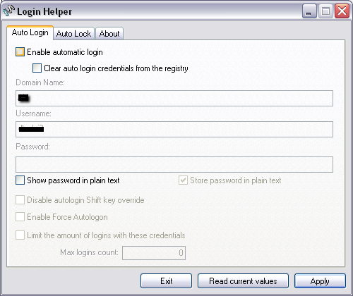 make windows auto login