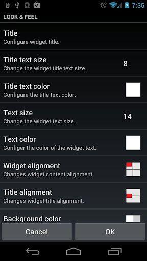 website widget android