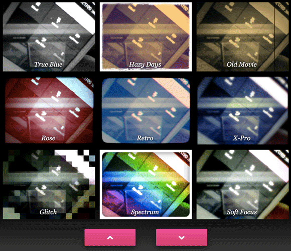 photo effects for web cam