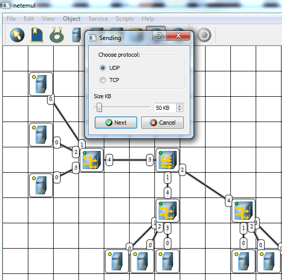 simulate network load