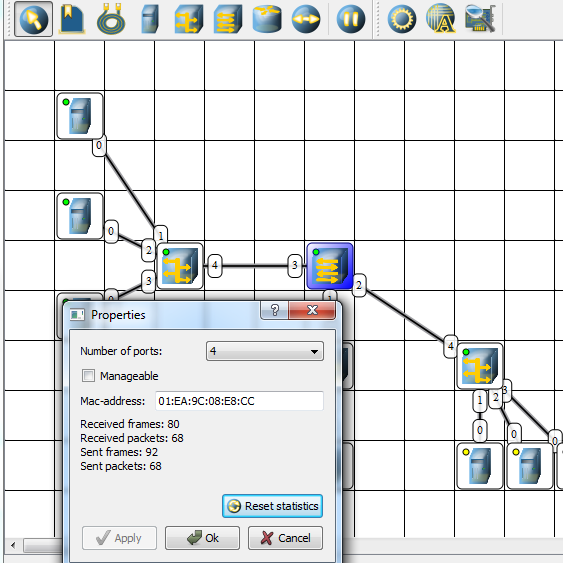 simulate network