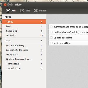 Nitro: An Advanced To-Do List [Linux & Web]