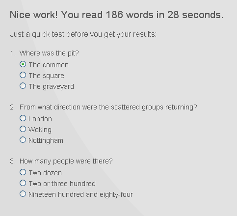 how fast you read