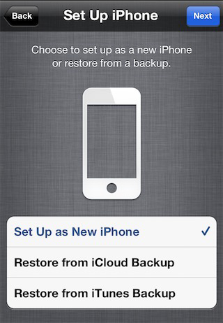 restoring iphone from icloud backup