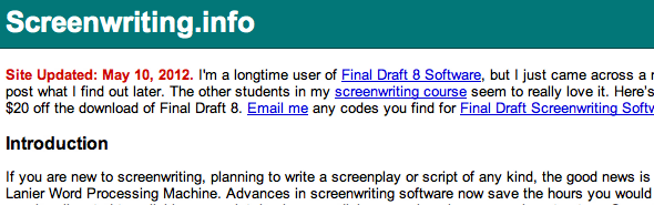 write your own screenplay