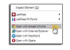 switch from firefox to chrome