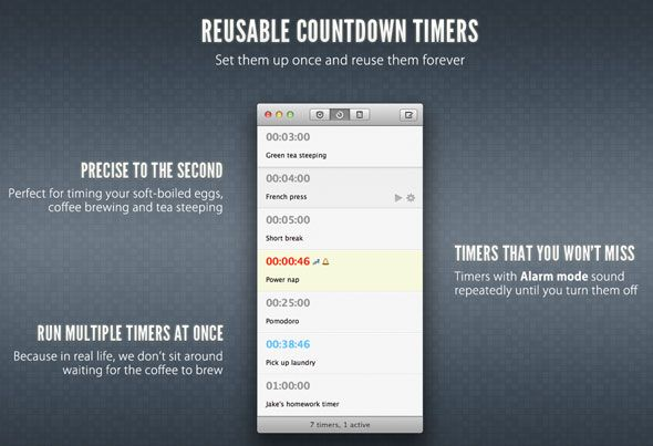 Due: The Reminder & Timer App You've Always Wanted [OSX & iOS] timers
