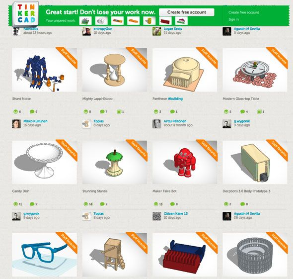 9 Apps To Easily Make 3D Printable Objects tinkercad directory