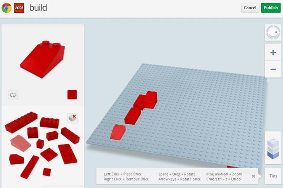 build virtual lego structures