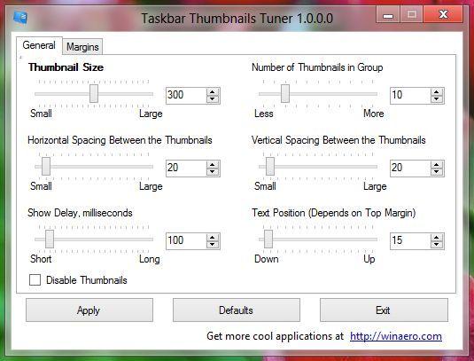 taskbar thumbnail tuner