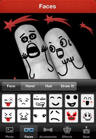 funny faces to draw on your fingers