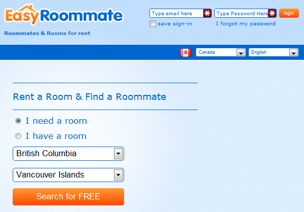 find roomates