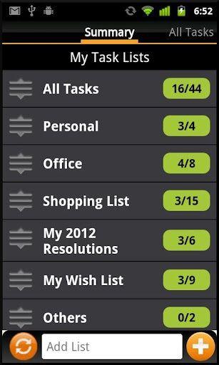 tasks on android phone