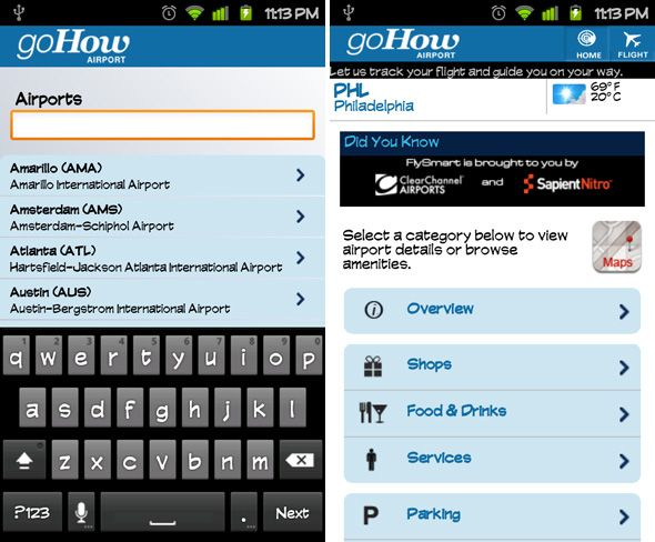 GoHow Airport: An Excellent Free App for Frequent Flyers [Android & iPhone] android gohow airport 1