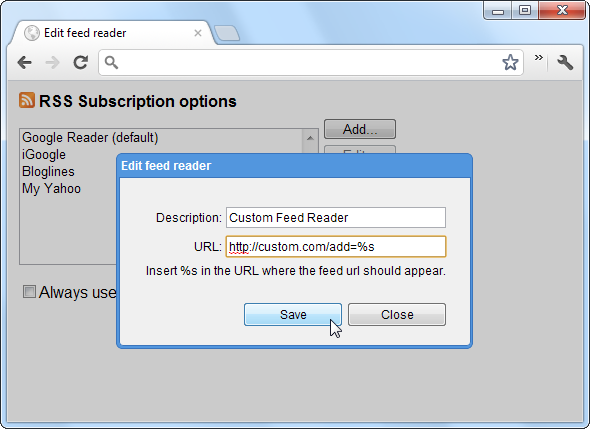 google rss subscription extension