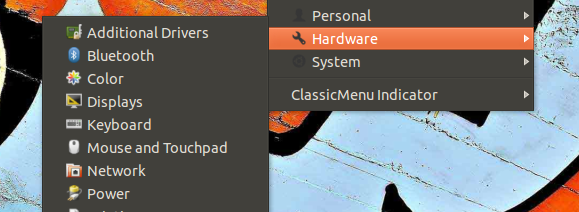 ubuntu old menu