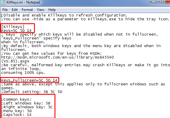 disable keys on your keyboard