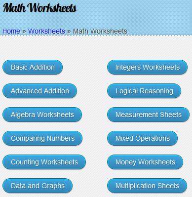 educational worksheets for children