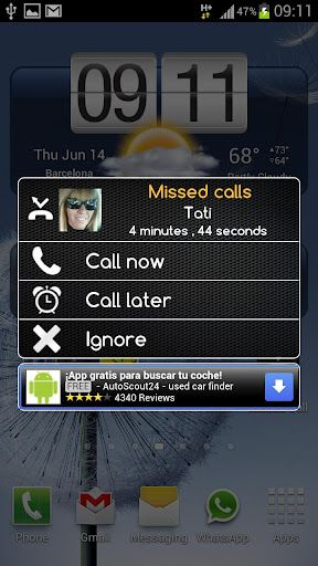 miss call android