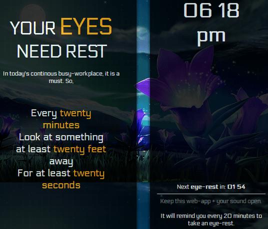 rest your eyes reminder
