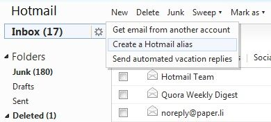 Easily Do A Complete Overhaul Of Your Hotmail Inbox, And Maintain It 14 Aliases