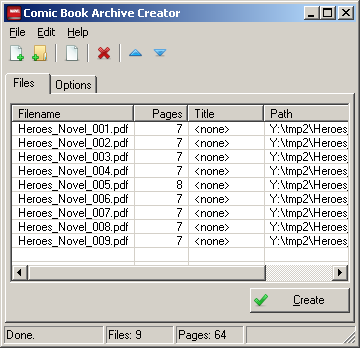 comic book archive creator