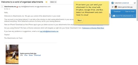 manage attachments in gmail