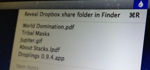 Dropbox   Droplings: Upload Files To Dropbox & Get File URL From Desktop [Mac]